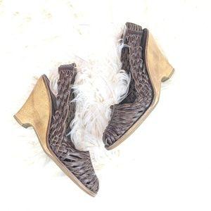 Michael Michael Kors Brown Huarache Sandals